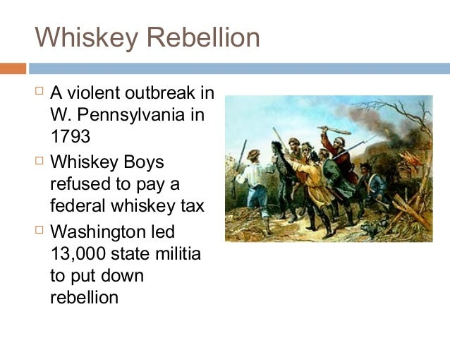 compare and contrast the whiskey rebellion Difference b/w shay's rebellion and the whiskey rebellion compare/contrast the federalist and democratic-republican parties people who represented each.