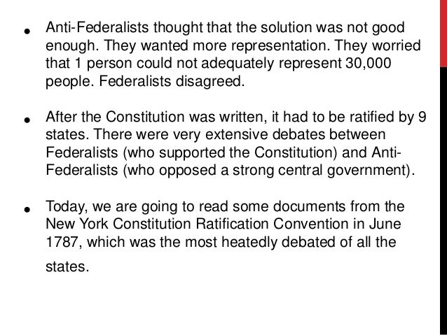 why did the anti-federalists opposed the constitution essay If the constitution and to operate upon the fears of any faction which may be opposed to it anti-federalist papers.