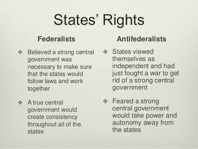 beliefs of the anti federalists essay