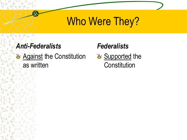 Which Of The Following Compromises Did The Federalists And Anti-federalists Make?