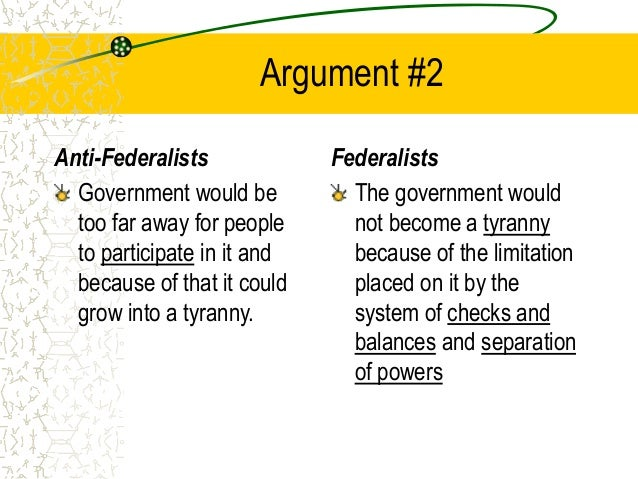 feddralist vs antifederalist The federalist papers study guide contains a biography of alexander hamilton, john jay and james madison, literature essays, a complete e-text, quiz questions, major.