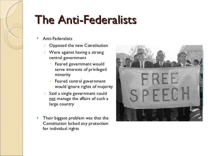 federalists vs anti federalists  4 the anti federalists