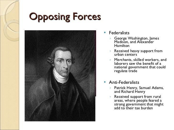 essays about federalists and antifederalists The federalists and the anti federalists term paper while the free essays can give you inspiration for writing, they cannot be used 'as is' because they will not.