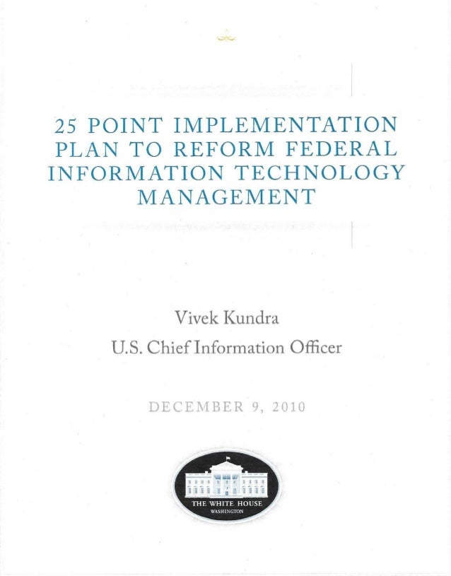 Federal it transformation plans Slide 3
