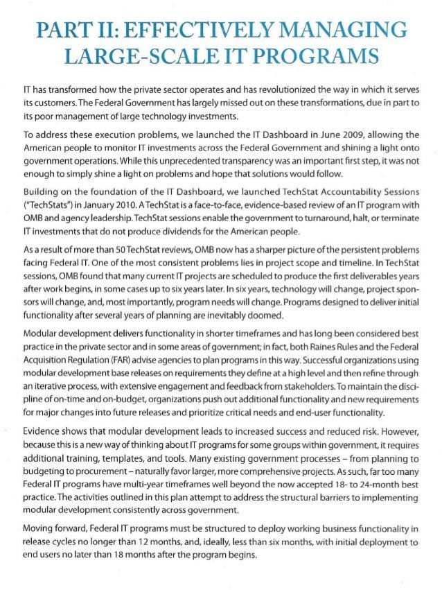 Federal it transformation plans