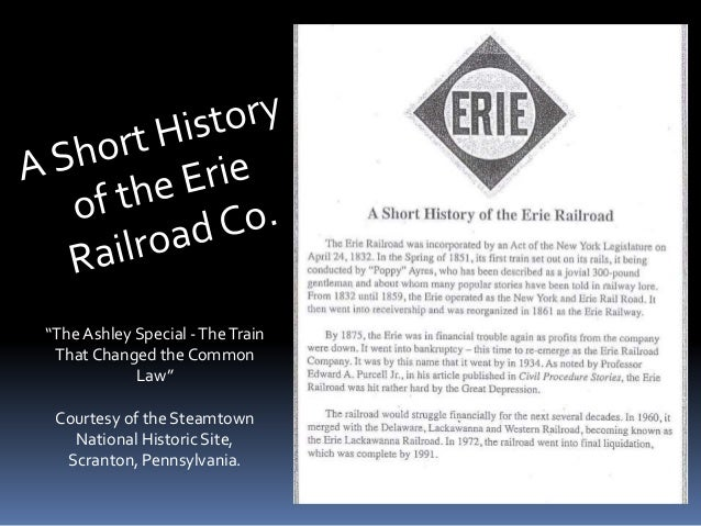 """The Ashley Special -TheTrain That Changed the Common Law"" Courtesy of the Steamtown National Historic Site, Scranton, Pen..."