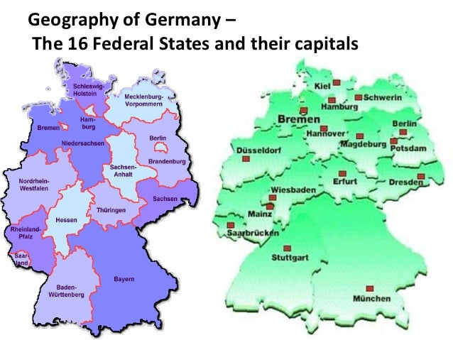Map Of The Federal States Placesingermany: Map Of Germany With States And Capitals At Infoasik.co