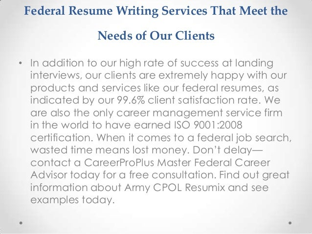 Best online resume writing services federal