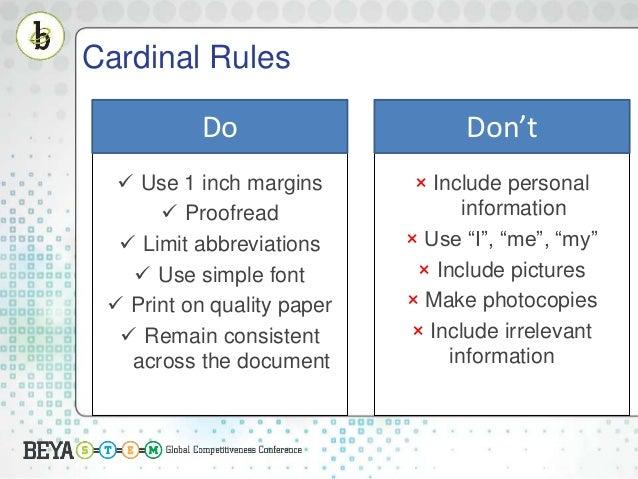 Distortions/Lies; 8. Cardinal Rules ...