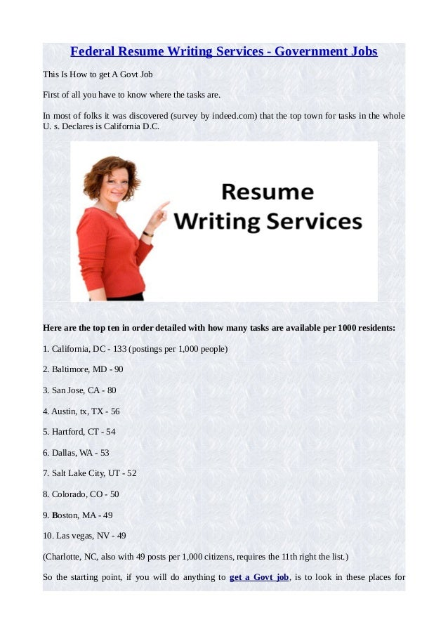 Federal resume writing services government jobs