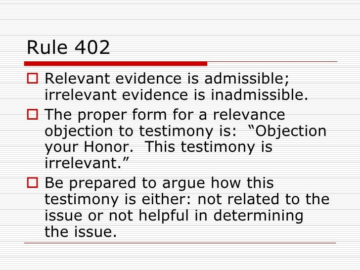 Evidence. Federal Rules of Civil Procedure