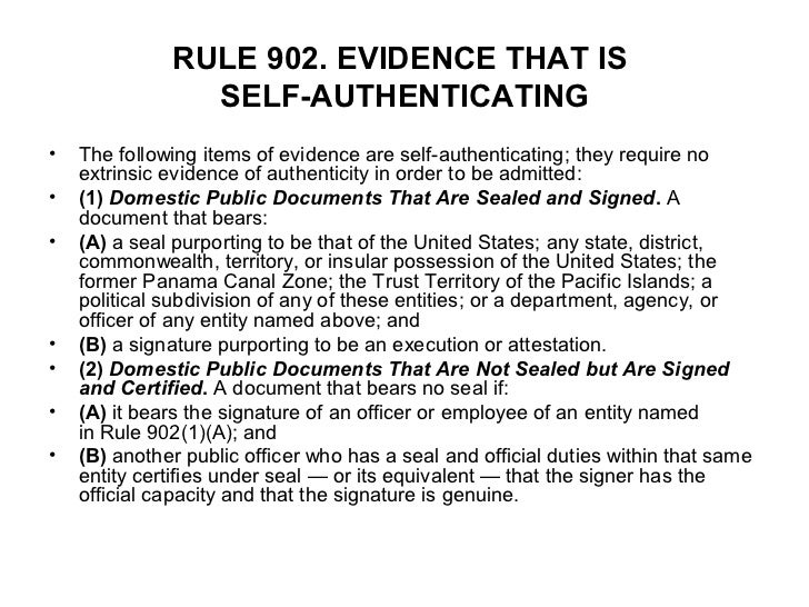 Federal rules of evidence restyled december 1 2011 - Us department of state office of authentication ...