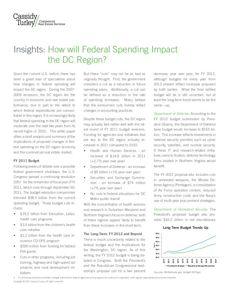 Insights: How will Federal Spending Impact          the DC Region?Given the current U.S. deficit, there has               ...