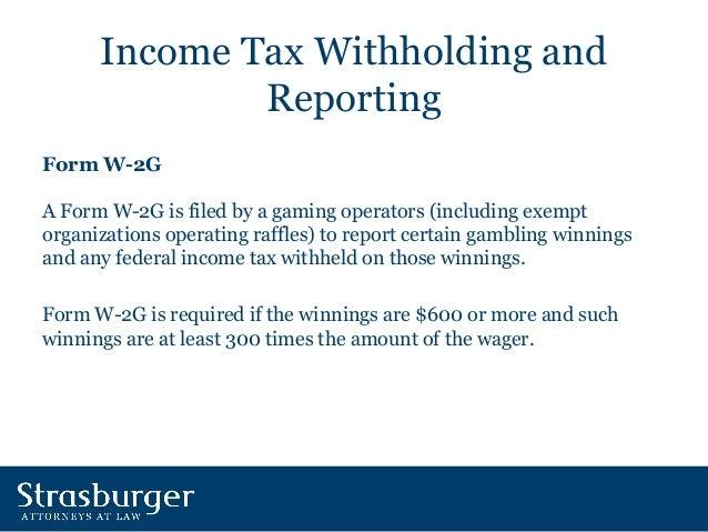 Reporting gambling winnings taxable income