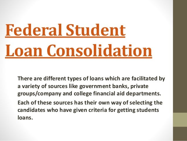 Consolodating student loans