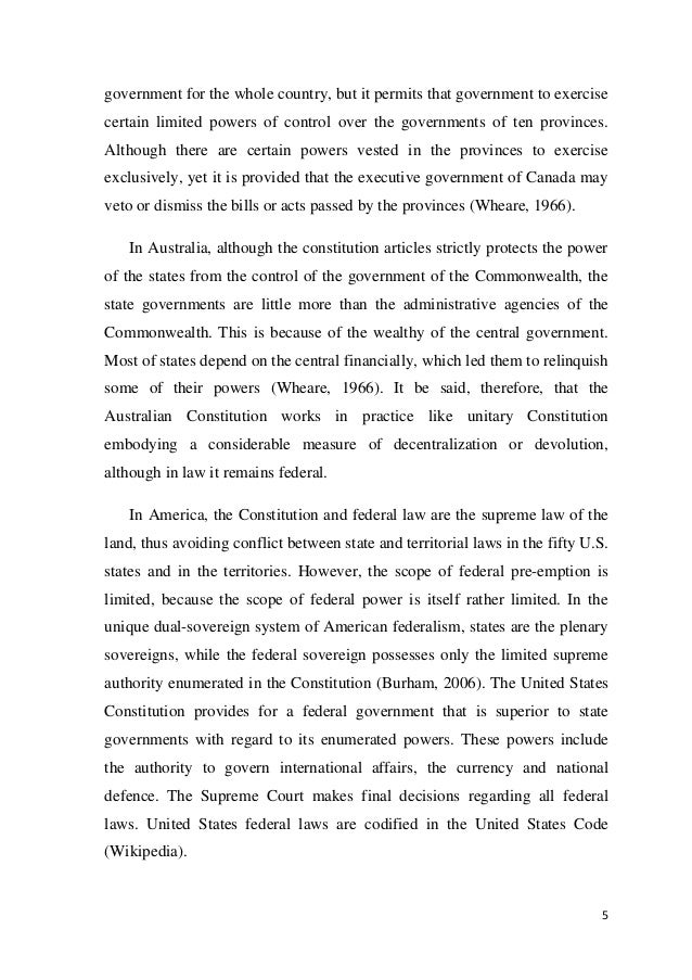 federalism unitary and confedrate government essay How could i explain the unitary, confederate, and federal systems of government in a five hundred word essay government - ms sue wednesday, october 7, 2009 at 4:23pm.