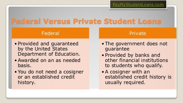 Private Student Loans >> Federal Vs Private Student Loans