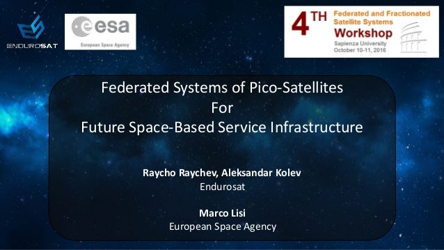 Federated Systems of Pico-Satellites for Future Space-Based