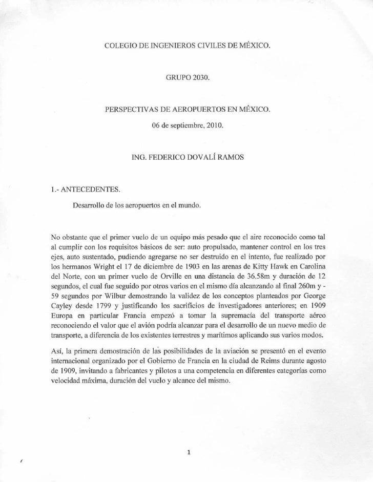 COLEGIO DE INGENIEROS CIVILES DE MÉXICO.                                          GRUPO 2030.                      PERSPEC...