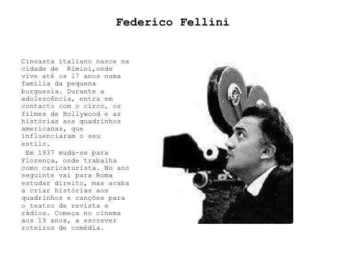 Federico fellini apresentaçao