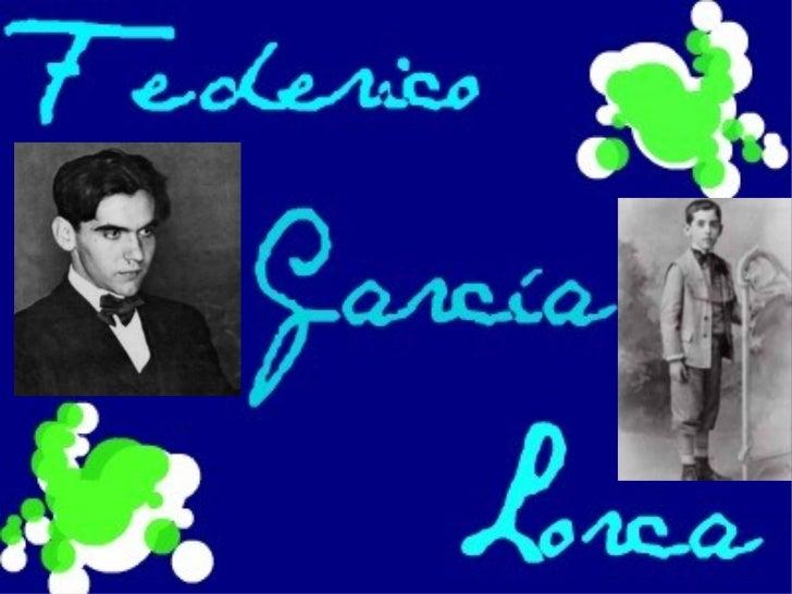 Biografía*Federico García Lorca nació el 5 de junio de 1898 en Fuente Vaqueros (Granada).En el seno de una familia de posi...