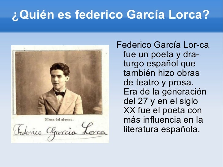 Federico García Lorca Julio