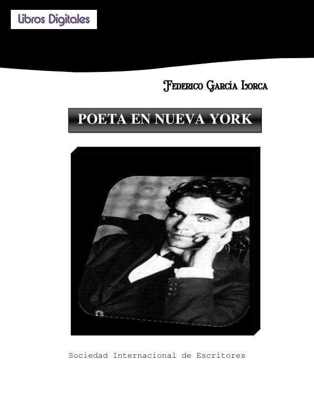 Libros Digitales                                                Federico García Lorca             POETA EN NUEVA YORK  ...