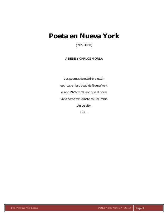 Federico Garcia Lorca Poeta En Nueva Desconocido