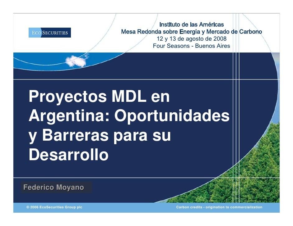 Instituto de las Américas                                  Mesa Redonda sobre Energía y Mercado de Carbono                ...