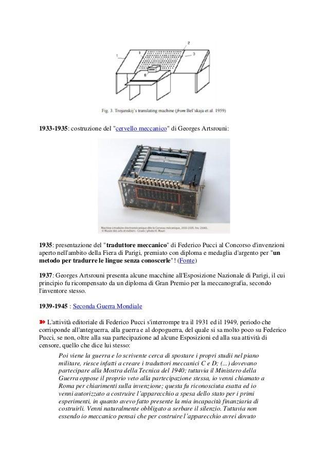 Federico Pucci: riscrivere la storia della traduzione automatica nel XX° secolo Slide 2