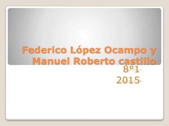 Federico López Ocampo y Manuel Roberto castillo 8°1 2015
