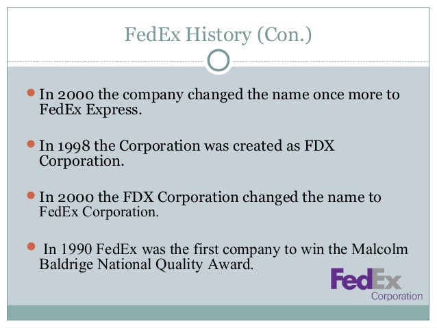 an introduction to the history of the federal express Introduction this article is  is the story of federal express and its founder  fred smith the  eventually turns to the history of fed ex the conclusion will.