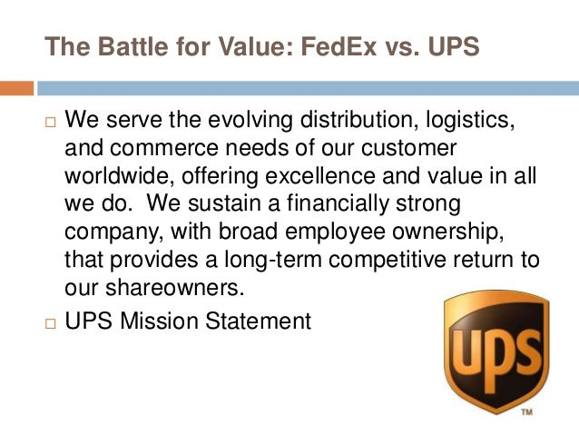 Case Study:UPS vs. Federal Express