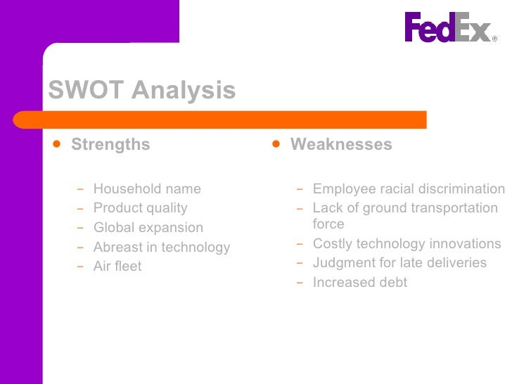 fedex internal analysis Three key strategies driving fedex in 2015 see our complete analysis of fedex here fedex recently announced its revised fuel surcharge rates.
