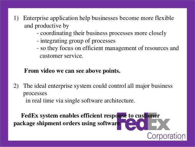 Fedex case study on creating value