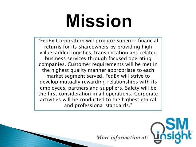 company description current status and problems of fedex corporation