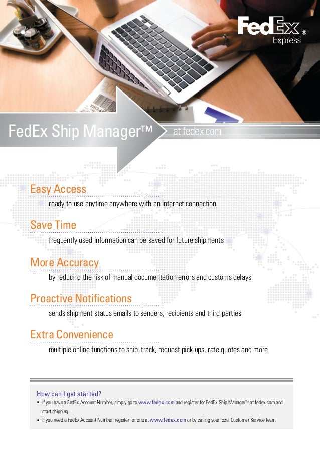 FedEx Ship Manager at fedex com