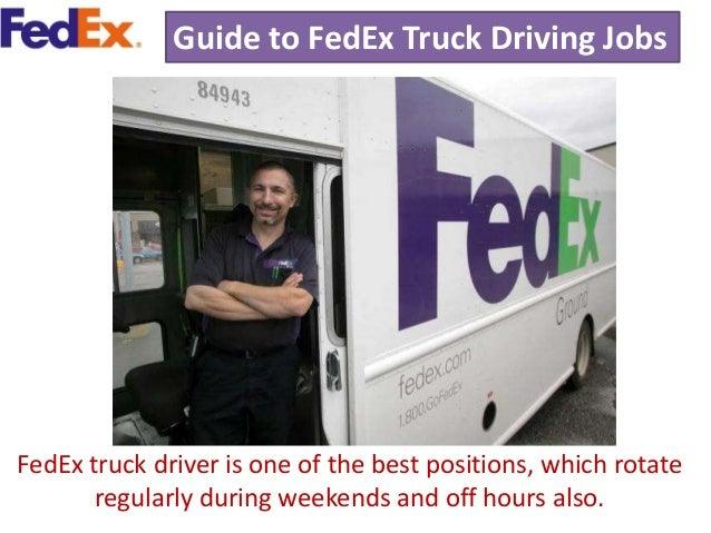 4 guide to fedex truck driving jobs