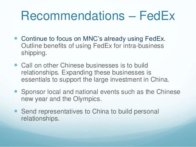 fedex vs ups competing with contrasting strategies in china Passenger airlines also compete fedex's strategy for success in the market place relies on a combination of customer united parcel service, inc united.