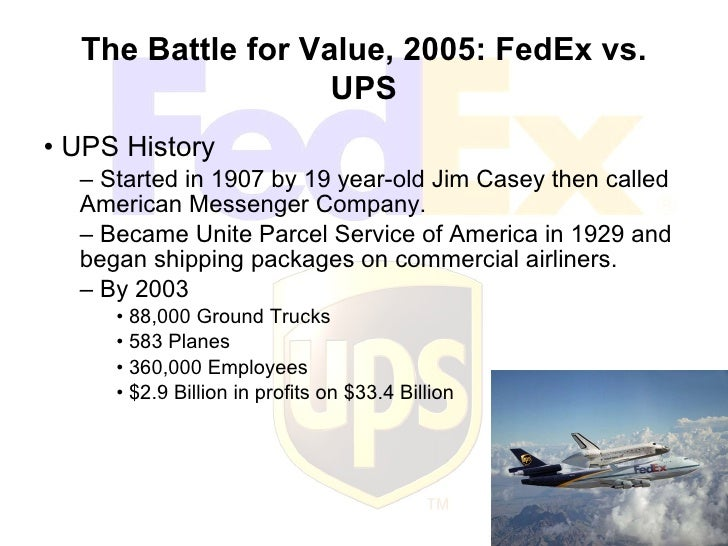 Case study fedex vs ups