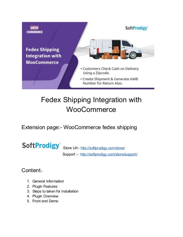 Fedex​ ​Shipping​ ​Integration​ ​with WooCommerce Extension​ ​page:-​ ​WooCommerce​ ​fedex​ ​shipping Store​ ​Url:-​ ​​htt...
