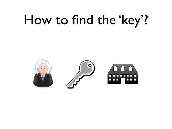 How to find the 'key'?