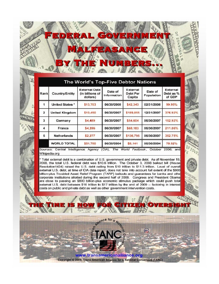 Federal Government       Malfeasance     By The Numbers…     the Time is now for Citizen Oversight                       w...