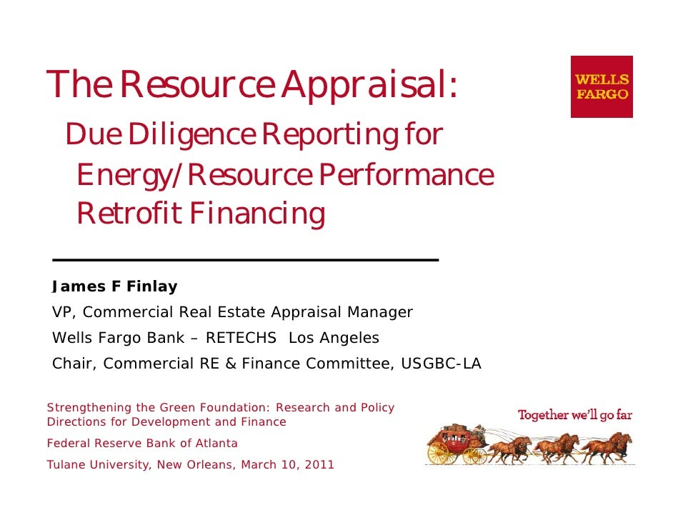 The Resource Appraisal:  Due Diligence Reporting for  Energy/Resource Performance  Retrofit Financing                   gJ...