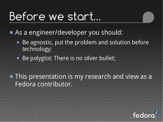 Python: the secret weapon of Fedora - FLISoL 2015 Slide 3
