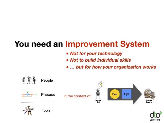 You need an Improvement System ● Not for your technology ● Not to build individual skills ● … but for how your organizatio...