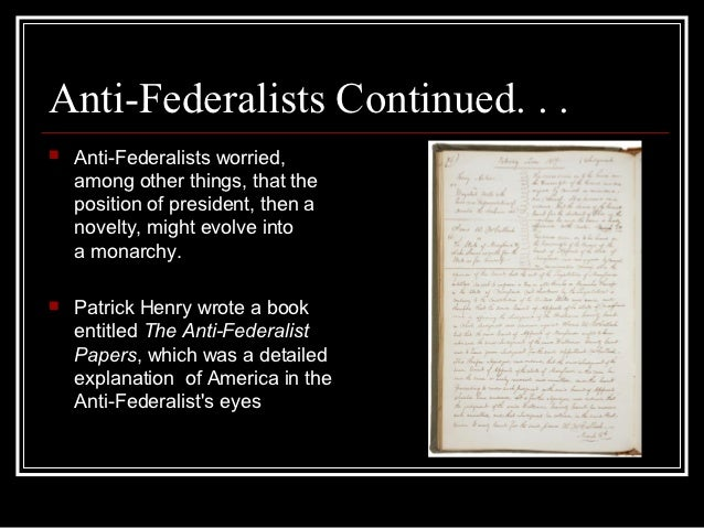 Difference Between Federalists and Anti-Federalists