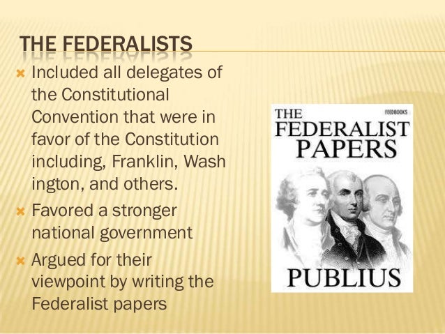 anti federalist papers Anti-federalism refers to a movement that opposed the creation of a stronger us federal government and which later anti-federalist papers the complete anti.