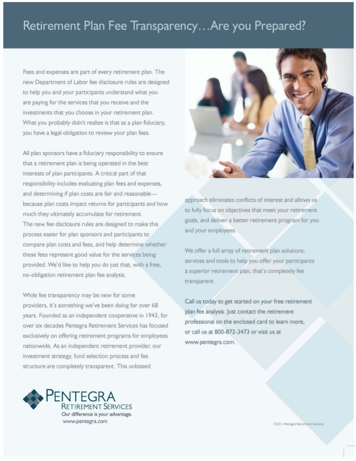 Retirement Plan Fee Transparency...Are You Prepared? (A guide for credit unions)   Pentegra