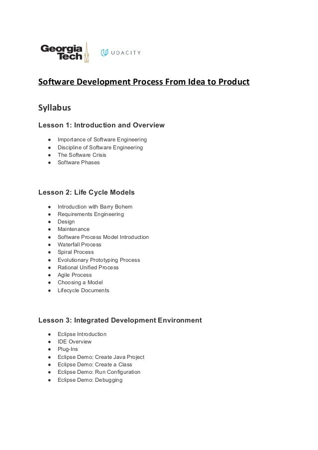software development process from idea to product syllabus lesson 1 introduction and overview importance - Document Development Process